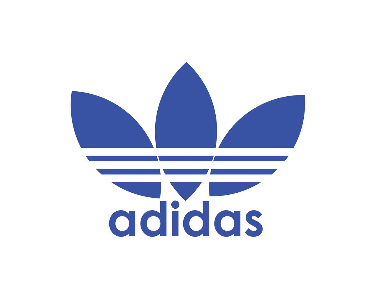 Logo Adidas Blu