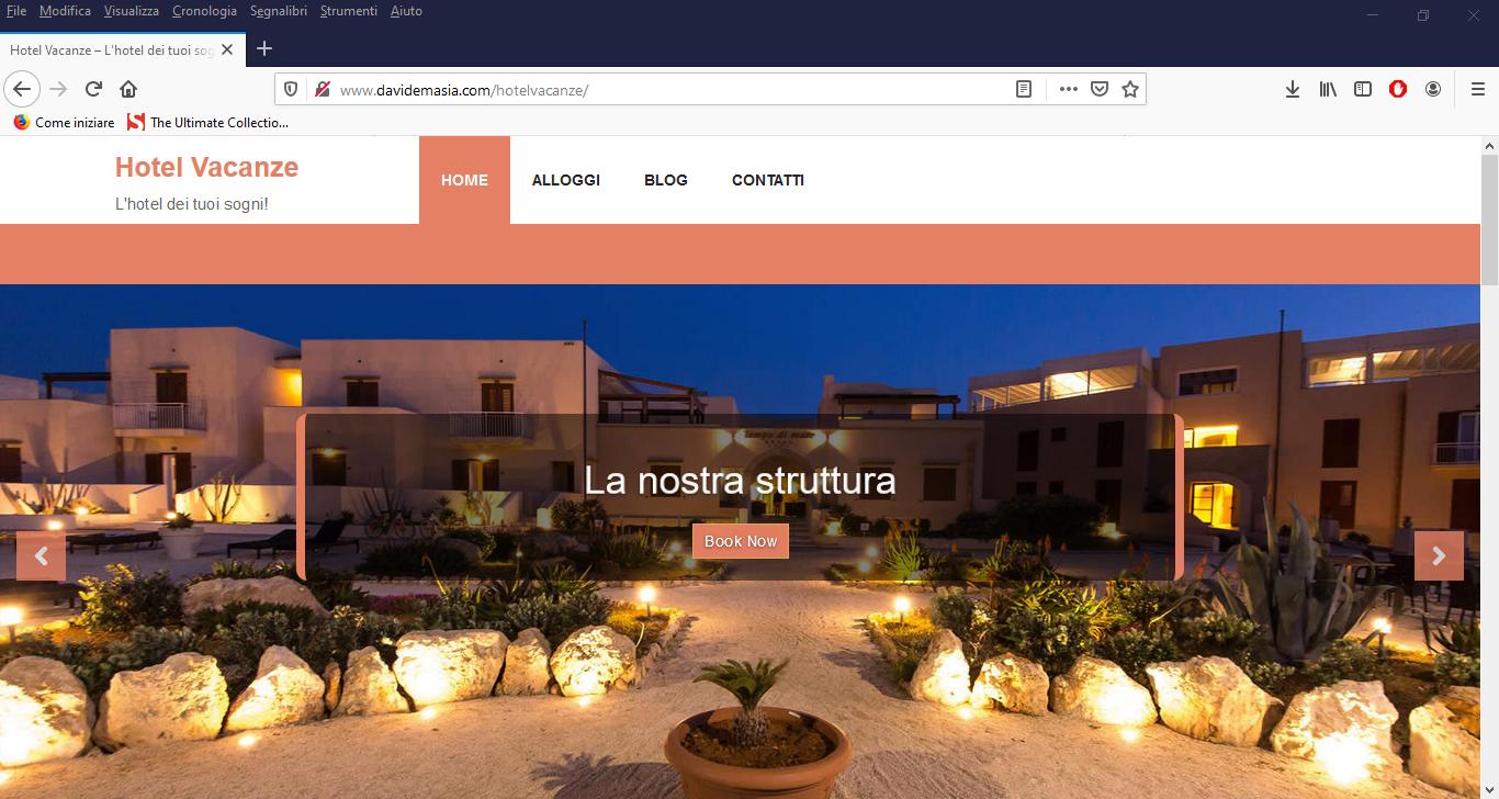 sito web hotel vacanze davide masia