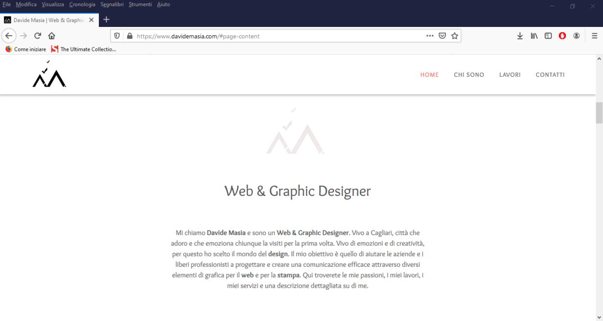 sito web portfolio davide masia